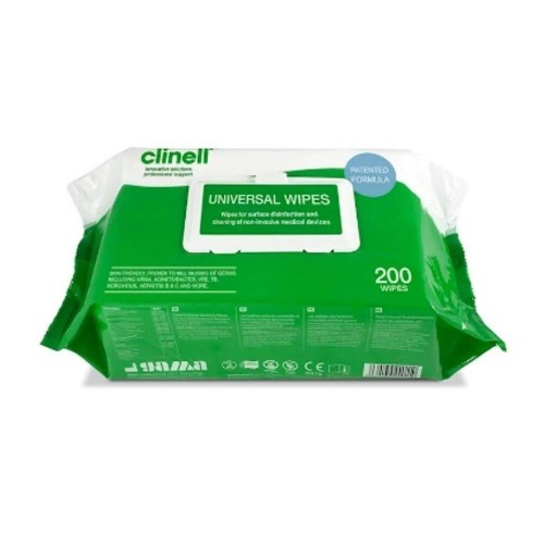 Clinell Universal Wipes Pkt of 200