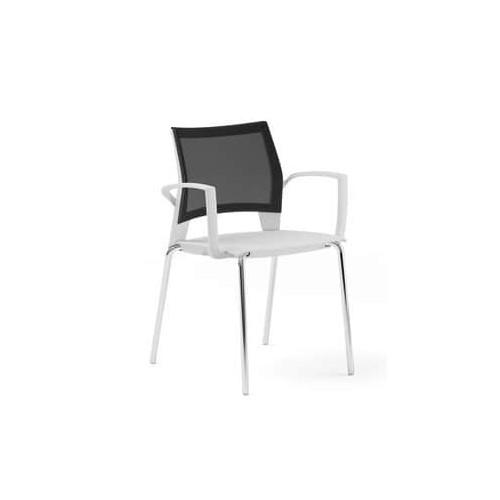 Gaius Mesh Chair Light Grey