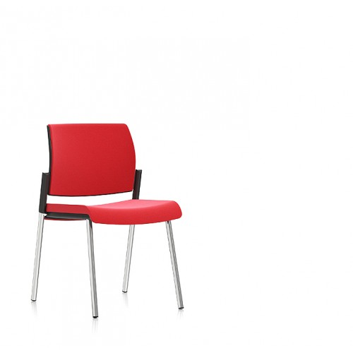 Kind Solid Visitor Chair Red