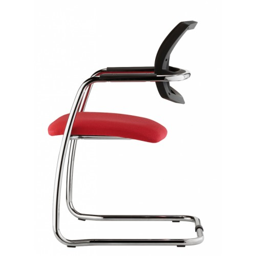 Urban Cantilever Mesh Chair Red