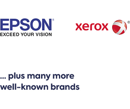 Ink and toner from many well-known brands